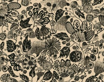 SALE Floral Waterfall Woodcut by Shannon Newlin for Free Spirit PWSN003.8TANX per YARD