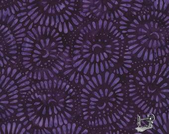 1/2 yd Tonga Rio Bead Flowers Batik Fabric from Timeless Treasures B6302-Royalty