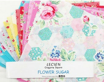 "Lecien Flower Sugar 2015 10"" Origami Squares/Layer Cake 3006L 03"