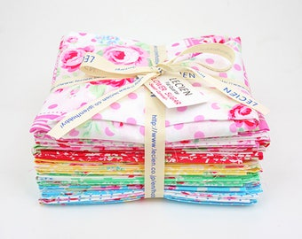 Flower Sugar Sweet Carnival Fat Quarter Bundle by Lecien Fabric LEC3036-05