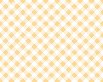 1/2 yd Sew Cherry 2 Gingham Fabric by Lori Holt for Riley Blake C5808 Yellow