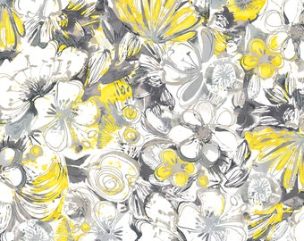 Alyssa Large Floral Fabric // Quilting Treasures by the Half Yard
