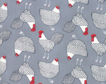 1/2 yd Farm Fresh Novelty Children Cluck by Gingiber for Moda Fabrics 48262 13