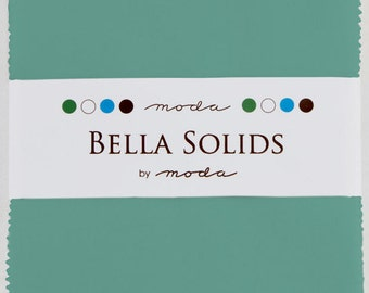 Bella Solids Charm Pack 9900PP 126 Betty's Turquoise