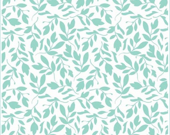 SALE Primrose Garden Aqua Leaf Fabric by Carina Gardner for Riley Blake Designs C4043 PER yard