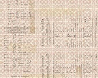 Tim Holtz Memoranda 3 Percentages Fabric // FreeSpirit PWTH108.RED by the Half Yard