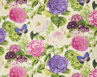 1/2 yd Flower Show Large Floral Fabric by Anne Rowan for Wilmington Prints 68421-173