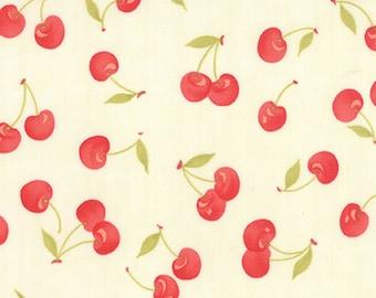 1/2 yd Farmhouse Floral Vintage Cherries by Fig Tree & Co for Moda Fabrics 20251 14 Milk