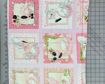 "END of BOLT 16"" Flamingo Fancy Quilt Panel by Loralie Designs LOD692-328"