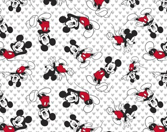 1/2 yd Disney Mickey Mouse Toss Knit Fabric 60006G550710