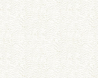 Fantasia Tonal Feather Fabric // Northcott by the Half Yard 22964M-11 CREAM