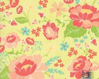 1/2 yd Moda LuLu Lane Floral Flower Garden Fabric by Corey Yoder 29020 17 Sprig