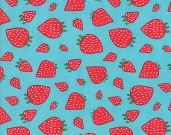 1/2 yd Farm Fresh Novelty Children Strawberry Patch by Gingiber for Moda Fabrics 48263 20