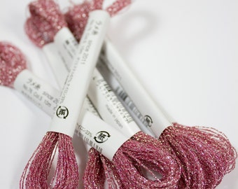 Cosmo Lecien Sparkle Embroidery Floss 76-5 Dark Pink