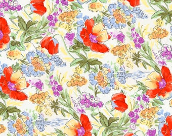 1/2 yd Rose & Hubble Tulips by David Textiles Fabrics 117646-RH-3