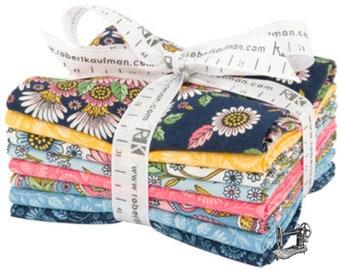 Delphine Spring Fat Quarter Bundle by Andie Hanna for Robert Kaufman Fabrics FQ-1350-8