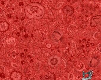 1/2 yd Samsara Red Floral Fabric by Paintbrush Studio 120-12456