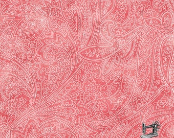 1/2 yd Montego Bay Coral Tonal Paisley Fabric by Paintbrush Studio 120-11992