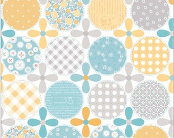 1/2 yd Polka Dot Stitches Blue Dot by Lori Holt of Bee in My Bonnet for Riley Blake DC3054