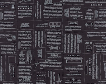 1/2 yd Volume II Black Definitions Fabric by Sweetwater for Moda Fabrics 5610 14