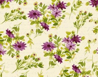 1/2 yd Fresh Picked Purple Daisies by Sue Zipkin for Clothworks Y2367-46 Eggplant