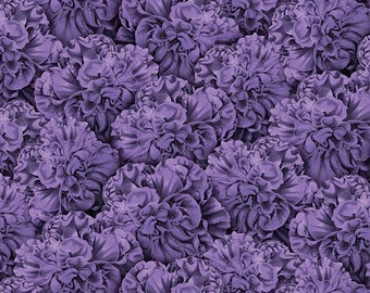 1/2 yd Flower Show Packed Begonias Fabric by Anne Rowan for Wilmington Prints 68424-661