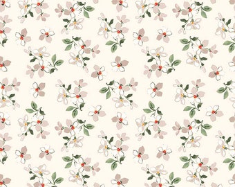 1/2 yd FARMHOUSE Floral Toss Fabric by Nancy Zieman for Penny Rose & Riley Blake Designs C6884-CREAM