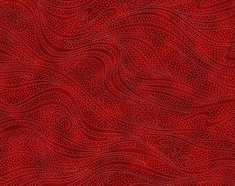1/2 yd Color Movement by Kona Bay for In The Beginning Fabrics 1MV-21 Ruby Red