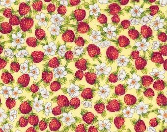 1/2 yd Rose & Hubble Tiny Strawberry by David Textiles Fabrics 117554-RH-2