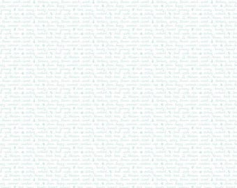 1/2 yd Sweet Orchard Text by Sedef Imer for Riley Blake C5484-WHITE