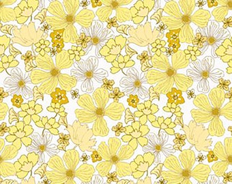 1/2 yd Garden Delights Poppy Flowers by Gray Sky Studio In The Beginning Fabrics 6GSE-2
