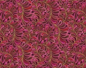 1/2 yd Cat-I-Tude Feather Frolic Fabric by Ann Lauer for Benartex 4205M28
