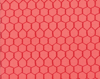 1/2 yd Farm Fun Chicken Wire Fabric by Stacy Iest Hsu for Moda Fabrics 20536 21