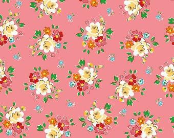 1/2 yd Backyard Roses Main by Nadra Ridgeway for Riley Blake Fabrics C5290 Pink