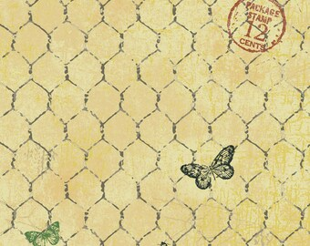 1/2 yd Good to be Home Chicken Wire by Robin Davis for Cothworks Fabric CLTY2242-67