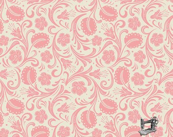 1/2 yd Boots & Spurs Cream Floral Fabric by Samantha Walker for Riley Blake Designs C6864