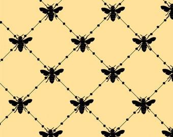 1/2 yd Bee Happy Bee Diamond by Loralie Designs Fabric 691-865
