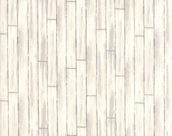 1/2 yd Homegrown Distressed Whitewash Shiplap by Deb Strain for Moda Fabrics 19828 11 Natural