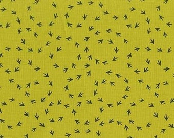 1/2 yd Just Us Chickens Chicken Scratch by Michael Miller Fabrics CX7452 MOSS
