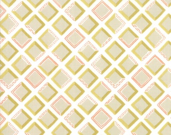 Goldenrod Tiles Fabric // Moda 36054 11 Bisque by the HALF YARD