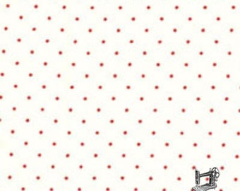 1/2 yd Quilter's First Red Pindot by Lecien Fabrics 30297 30