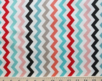 SALE Adornit Multi Chevron Fabric Coral T-00347 PER yard