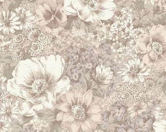 1/2 yd Nature's Harmony Large Floral by Quilt Gate Fabrics QUGGF5110-11A