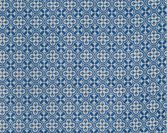 1/2 yd Correspondence Sophisticate Blue by Tim Holtz for Free Spirit/Coats Fabric PWTH047.8BLUE