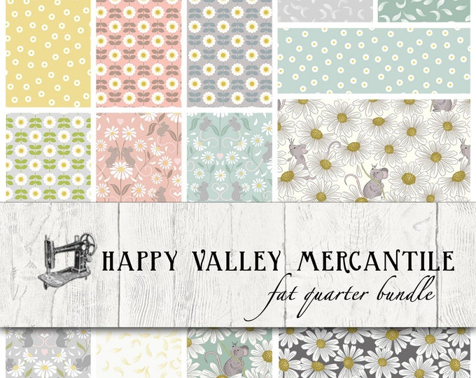 FREE Shipping Love Me Love Me Not Fat Quarter Bundle by Lewis & Irene FQ-LEILOM