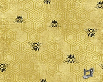 1/2 yd Bee Kind Honey Bees All Over Fabric by Paintbrush Studio 120-99231