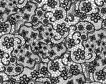 1/2 yd Flower Power Crocheted Lace Fabric by Patrick Lose SPR65121-1100715