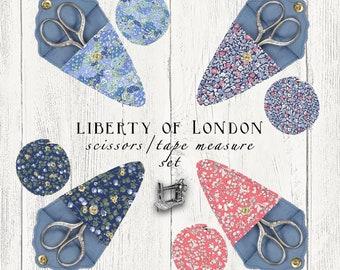 Liberty of London Tape Measure & Scissors Gift Set A01-04775627W