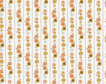 1/2 yd Guinevere Daisy Chain by Citrus & Mint Designs for Riley Blake Fabrics C7095 Cream