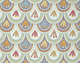 SALE Feathered Scallops Fabric // FreeSpirit PWZR013.DESER Per YARD